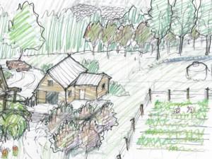 Singing Farm Illustration